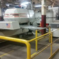 1992, Strippit Fabricenter 1250S, Laser/Turret punches, 5 x 10 table, Rofin resonator, Under power