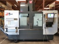 2016 Haas VF5/40 XT, 60 x 26 x 25 travels,10k spindle, HSM, 2 speed gear box, probe, Low hours
