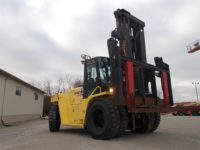 """H450HD 2011  Hyster Pneumatic Forklift 45,500 lb cap 96"""" forks Side-shift 2 stage mast 4 way controls 166"""" lowered 